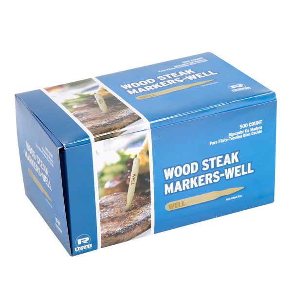 Well Wood Steak Markers, Pack of 500