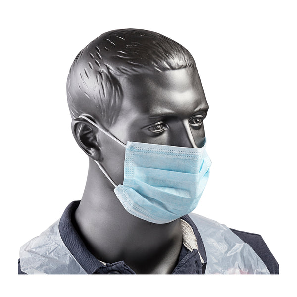 Blue Non-Woven Face Mask With Ear Loops