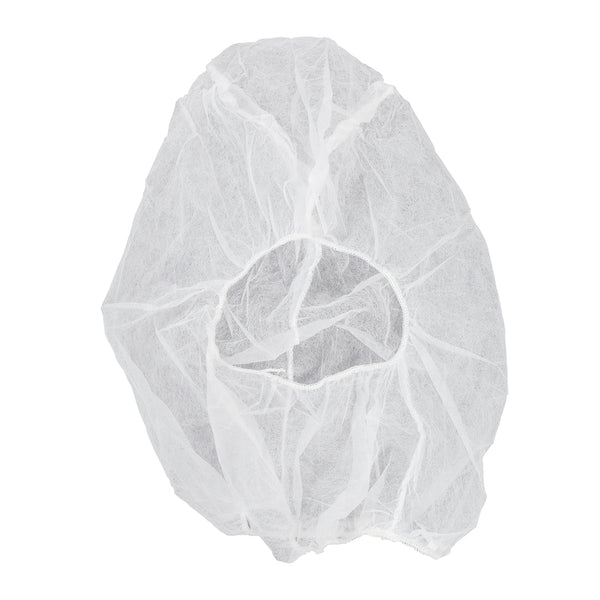 White Polypropylene Hood With Elastic Face Enclosure, Latex Free