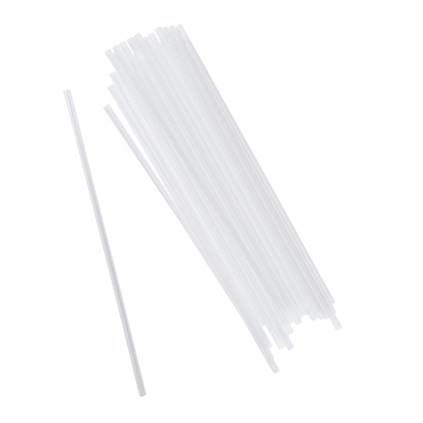 "10.25"" Jumbo Clear Unwrapped Straws, Case of 2,000 - CiboWares.com"