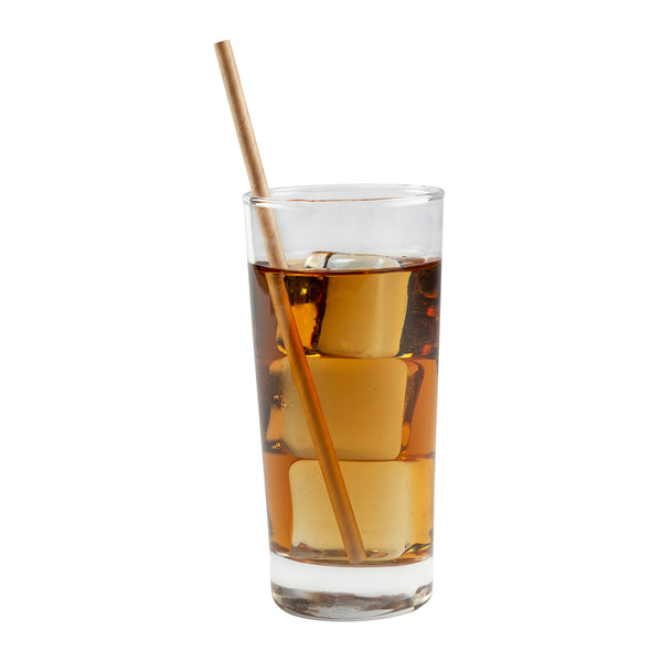"7.75"" Jumbo Unwrapped Kraft Paper Straw in Drink"
