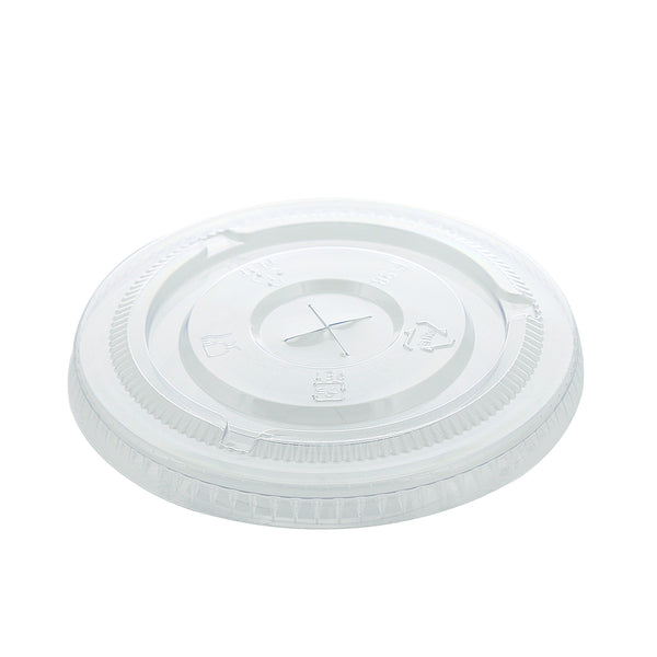 14-24 oz. Clear PET Lids with Straw Slots