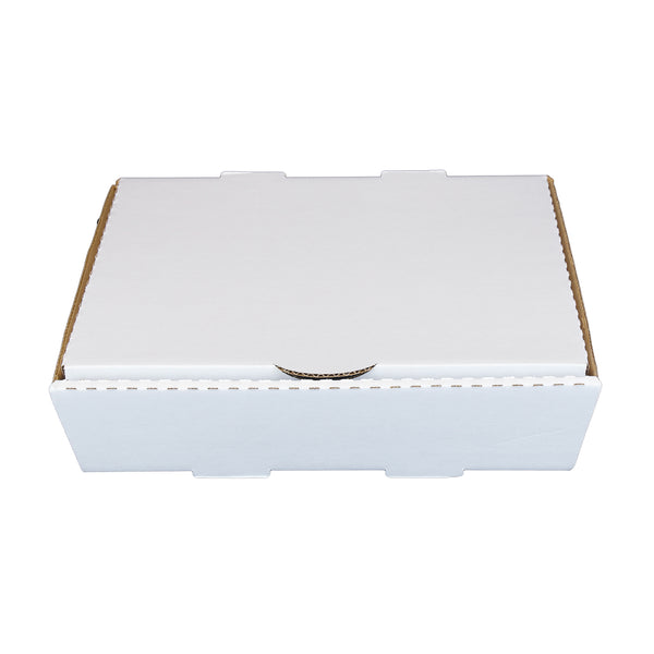 "Half Pan White 13"" x 10-7/8"" x 3"" Corrugated Catering Box"