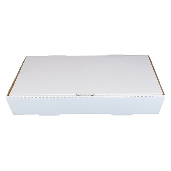 "Full Pan White 21"" x 13"" x 3"" Corrugated Catering Box"
