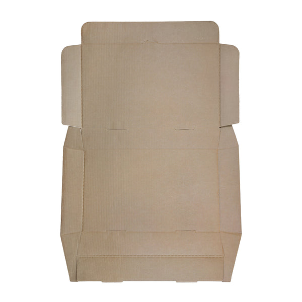 "Full Pan White 21"" x 13"" x 3"" Corrugated Catering Box - Flat-packed"