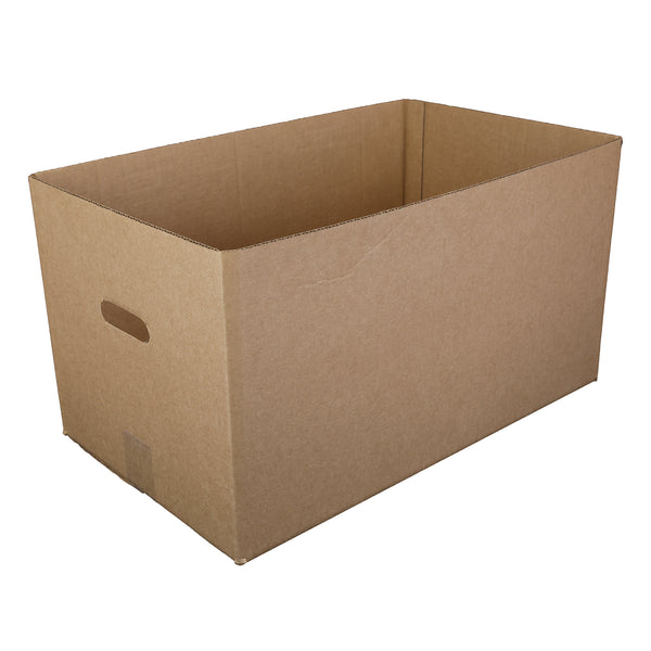 "Kraft 22"" x 13"" x 12-1/2"" Corrugated Handle Carry Out Box"