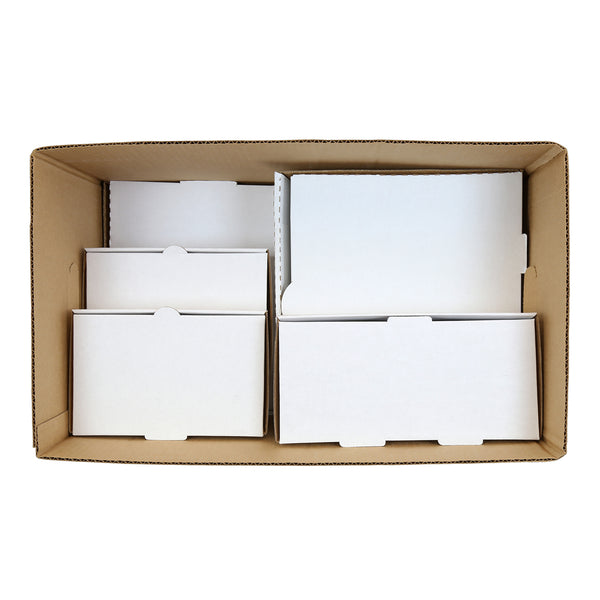 "Kraft 22"" x 13"" x 12-1/2"" Corrugated Handle Carry Out Box - What Fits Inside"