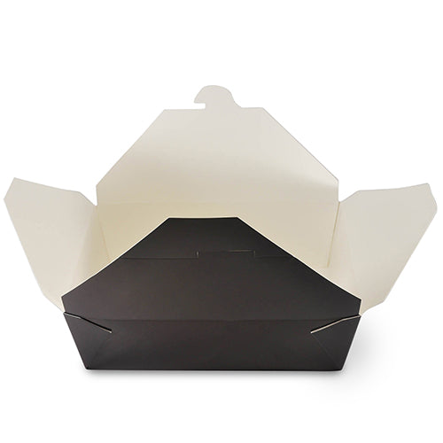 "FTB3BK - #3 Black 7-3/4"" x 5.5"" x 2.5"" Folded Takeout Boxes Sample, for Customer Service Use Only"