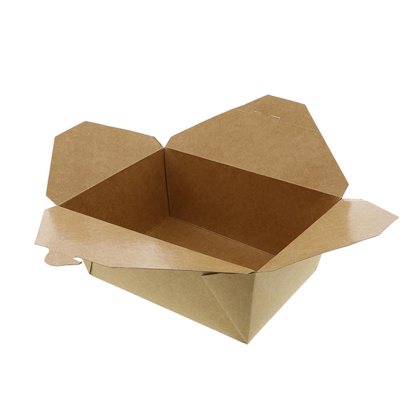 "FTB4N - #4 Kraft 7-3/4"" x 5.5"" x 3.5"" Folded Takeout Boxes Sample, for Customer Service Use Only"