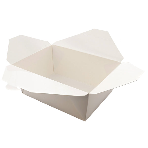 "FTB4W - #4 White 7-3/4"" x 5.5"" x 3.5"" Folded Takeout Boxes Sample, for Customer Service Use Only"