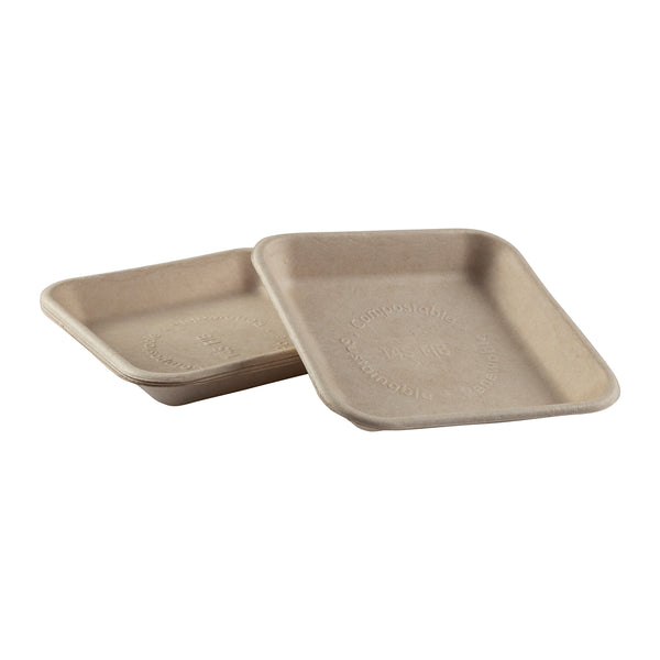 "TRAY-14S - 6"" x 6"" x .88"" Molded Fiber Mini Trays Sample, for Customer Service Use Only"