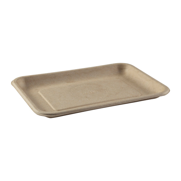 "8"" x 5.75"" x 0.6"" Molded Fiber Mini Trays, Case of 500"