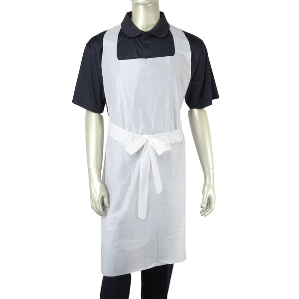 "28"" x 46"" 1 Mil Poly Apron with Ties"