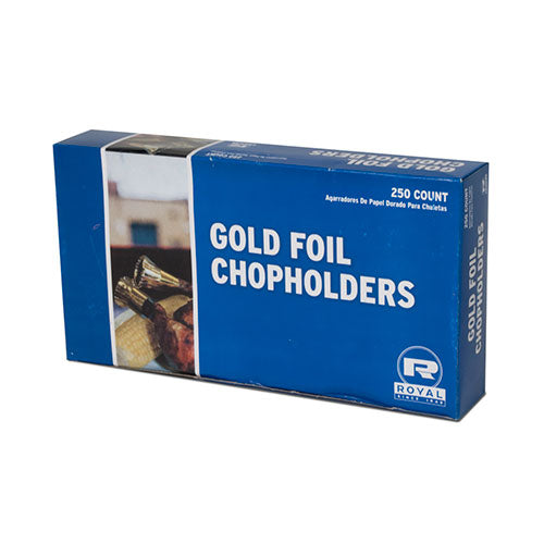 Gold Foil Chop Holders, Package of 250