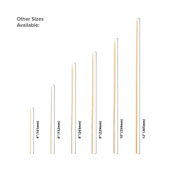 Bamboo Skewer Size Options
