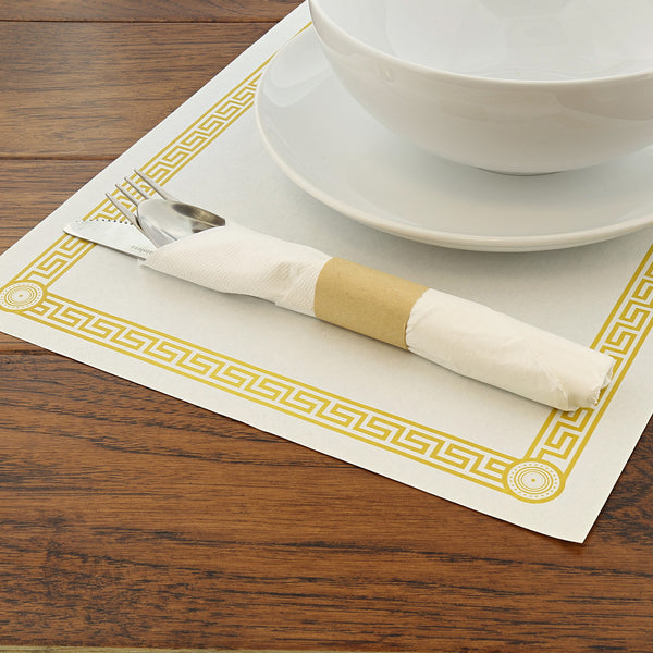 "10"" x 14"" Greek Key Design Placemat with Place Setting"