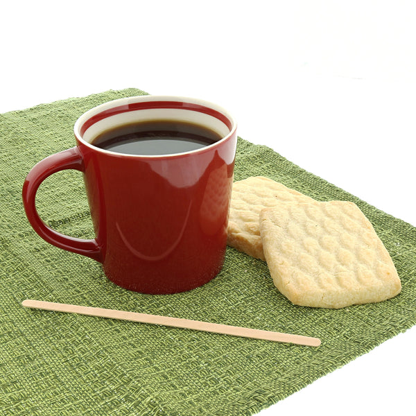 "7.5"" Wood Coffee Stirrer with Coffee and Cookies"