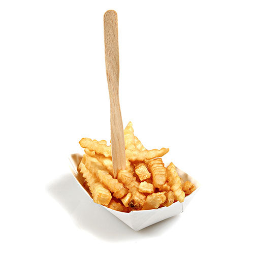 Two Prong Wood Fork with Fries