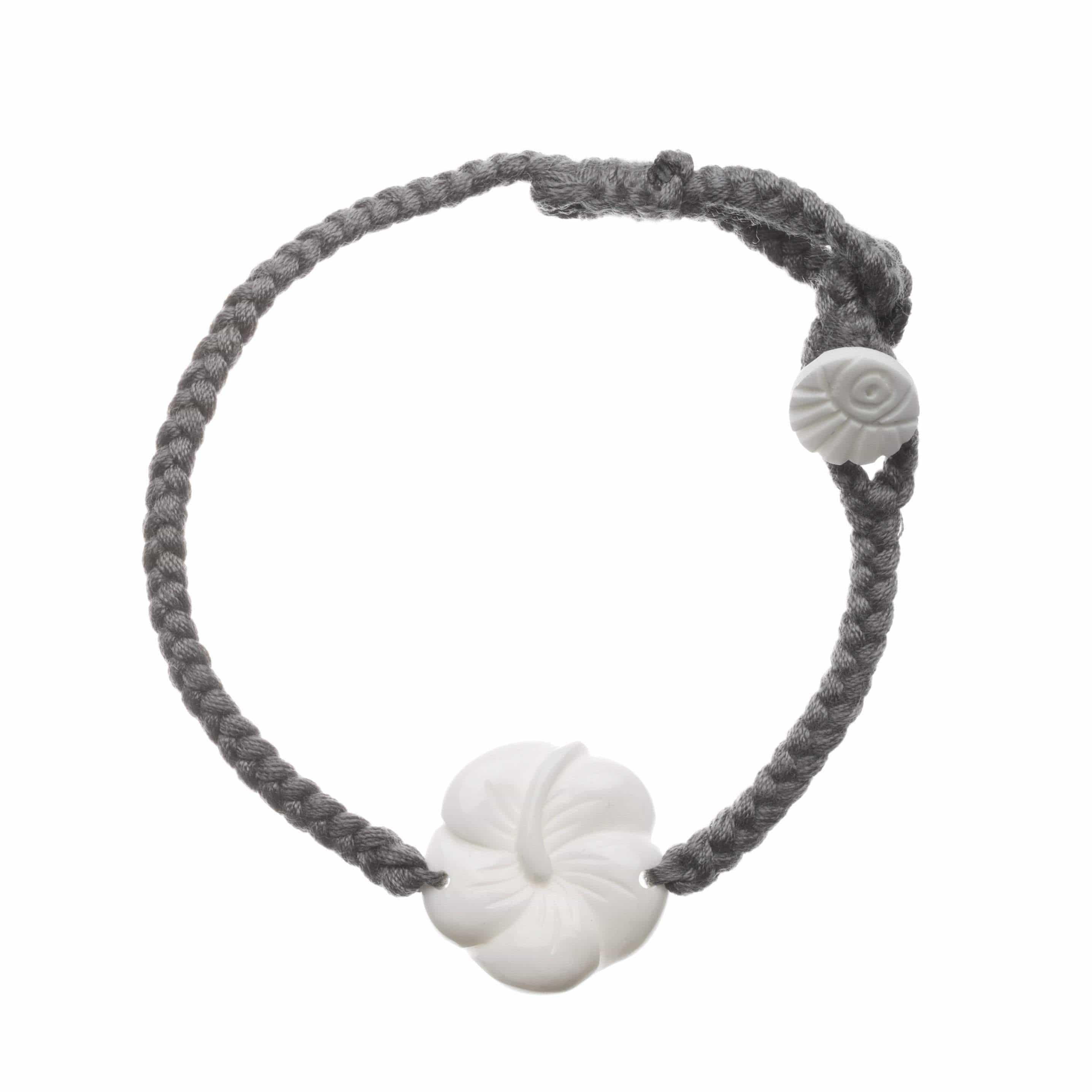 nut hawaiian bracelet kukui black lavahut products lei hibiscus