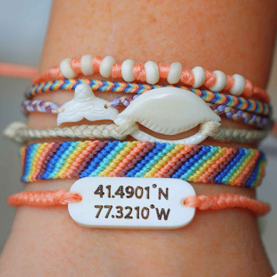 Mermaid Coordinates Bracelet Set