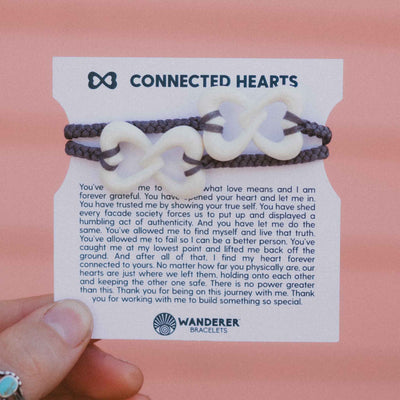 Connected Hearts Matching Bracelet Set