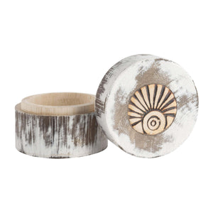 Engravable Round Wanderer Keepsake Box