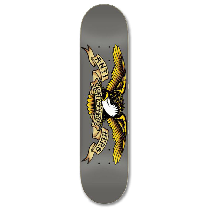 ANTIHERO 'Classic Eagle - Grey' Skateboard Deck 8.25""