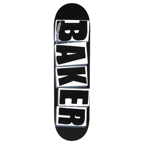 BAKER 'Logo Black/ White' Skateboard Deck 8.475""