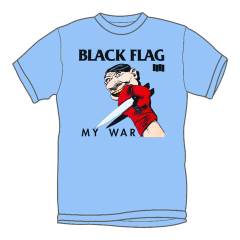 BLACK FLAG 'My War' T-Shirt (Blue)