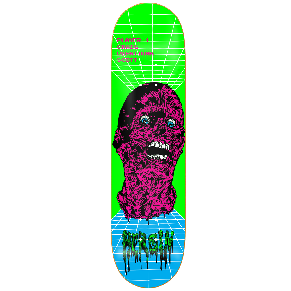 HEROIN SKATEBOARDS 'Videodrome - Questions' Deck