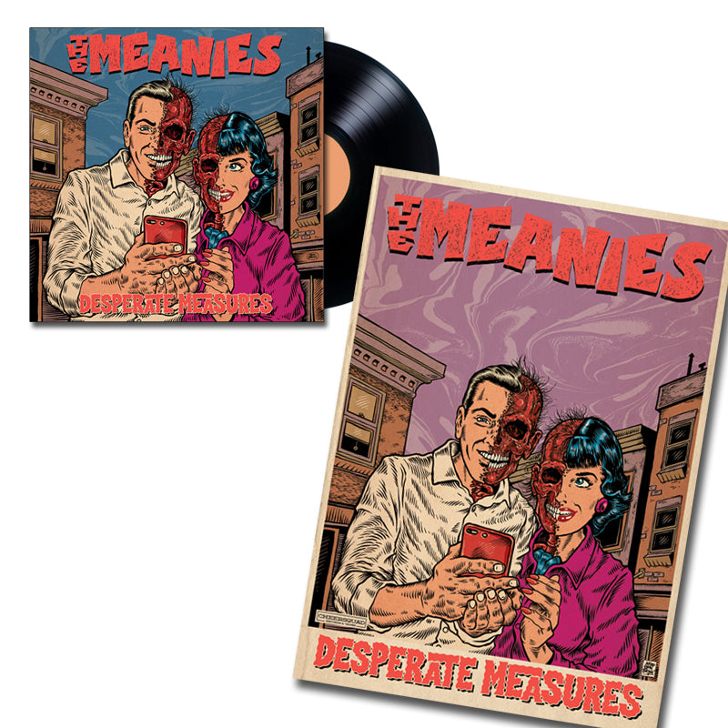 THE MEANIES 'Desperate Measures' LP + Poster