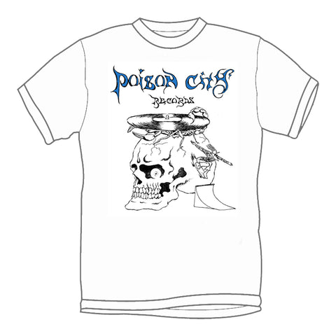 POISON CITY 'Spiral Skull' T-Shirt