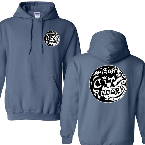 POISON CITY 'Worn Spiral' Hooded Sweat