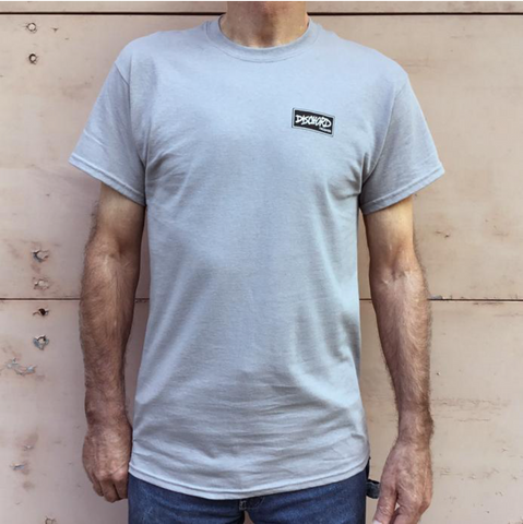 DISCHORD RECORDS 'Box Logo' T-Shirt (Gravel)