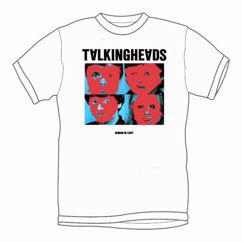 TALKING HEADS 'Remain In Light' T-Shirt (White)