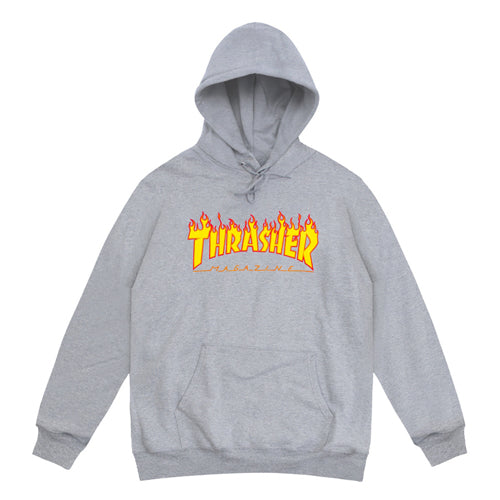 THRASHER 'Flame' Hooded Sweat