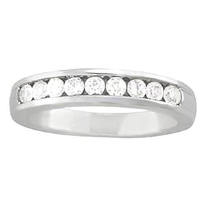 0.45 Carats Diamond Engagement Band Channel Set Band