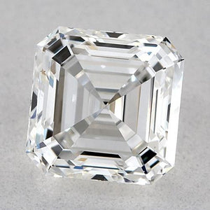 0.50 Carats Asscher Diamond Loose D Fl Very Good Cut Diamond