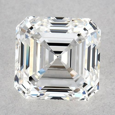 0.50 Carats Asscher Diamond Loose F Fl Very Good Cut Diamond
