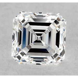 0.50 Carats Asscher Diamond Loose F VS2 Good Cut Diamond