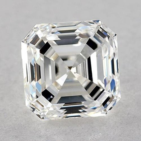 0.50 Carats Asscher Diamond Loose G Fl Very Good Cut Diamond