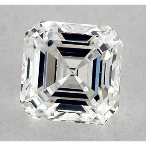 0.50 Carats Asscher Diamond Loose J VS1 Very Good Cut Diamond