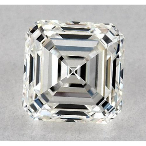 0.50 Carats Asscher Diamond Loose J VS2 Good Cut Diamond