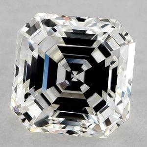 0.50 Carats Asscher Diamond Loose J VVS2 Very Good Cut Diamond