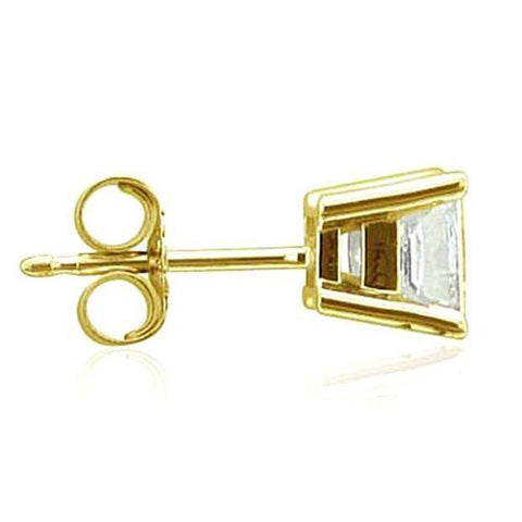 0.50 Carats E Vvs1 Diamond Stud Single Earring Men New Single Stud