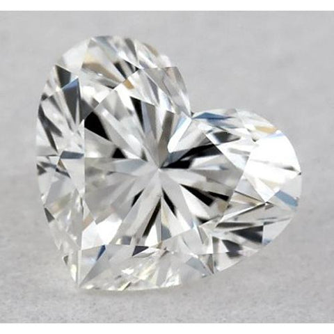 0.50 Carats Heart Diamond Loose D Vvs2 Very Good Cut Diamond