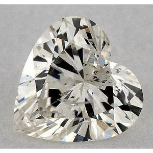 0.50 Carats Heart Diamond Loose E Vs1 Very Good Cut Diamond