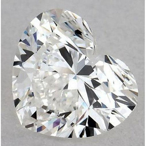 0.50 Carats Heart Diamond Loose E Vvs1 Very Good Cut Diamond