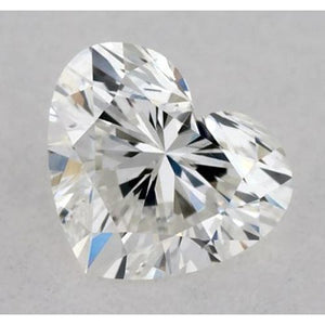 0.50 Carats Heart Diamond Loose E Vvs2 Very Good Cut Diamond