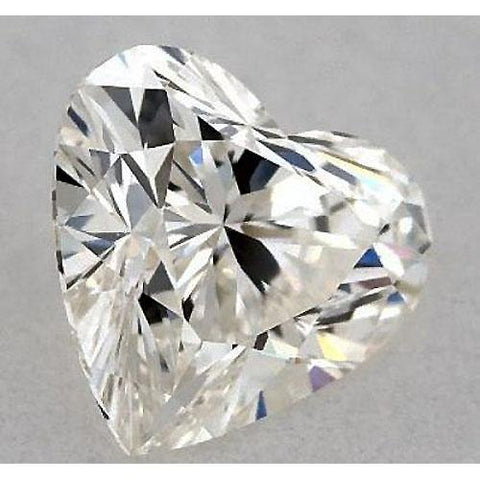 0.50 Carats Heart Diamond Loose F Vs2 Very Good Cut Diamond